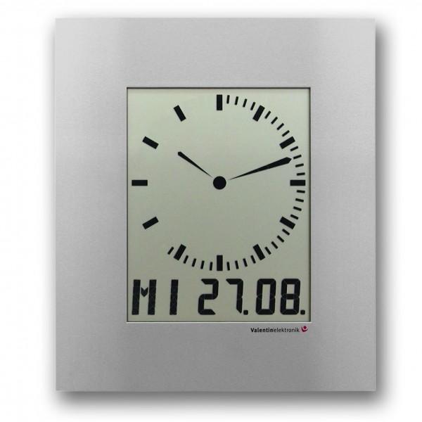 AC-150-M: LCD-Analog-Digitaluhr mit auf- oder abbauendem Sekundenkranz, funkgesteuert