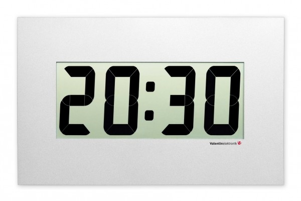 C-140-M: LCD-Wallclock with new Alunox front panel, wireless and radio-controlled