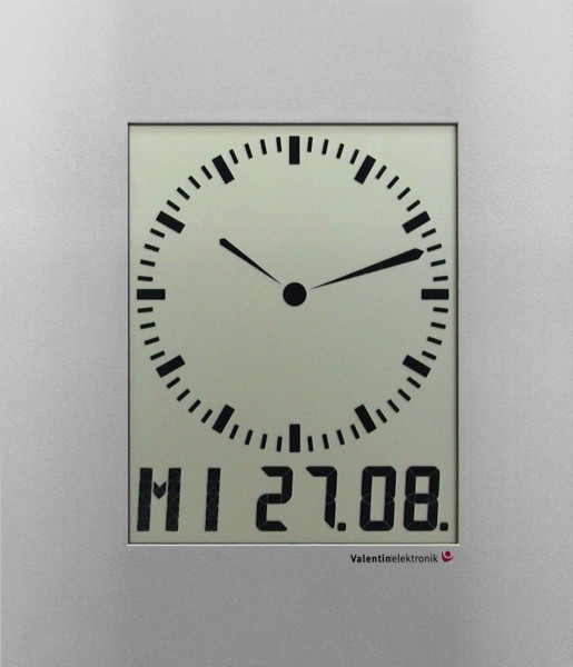 AC-210-M: LCD-Analogue-Digitalclock with digit ring for the seconds, radio-controlled