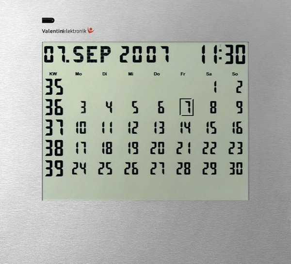 CK-1: Endless electronic wall calendar / desk diary, 1-month display