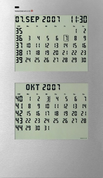 CK-2: Endless electronic wall calendar, 2-months display