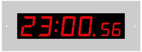 L-38-25: LED-Flush-Mounted-Clock with display of seconds