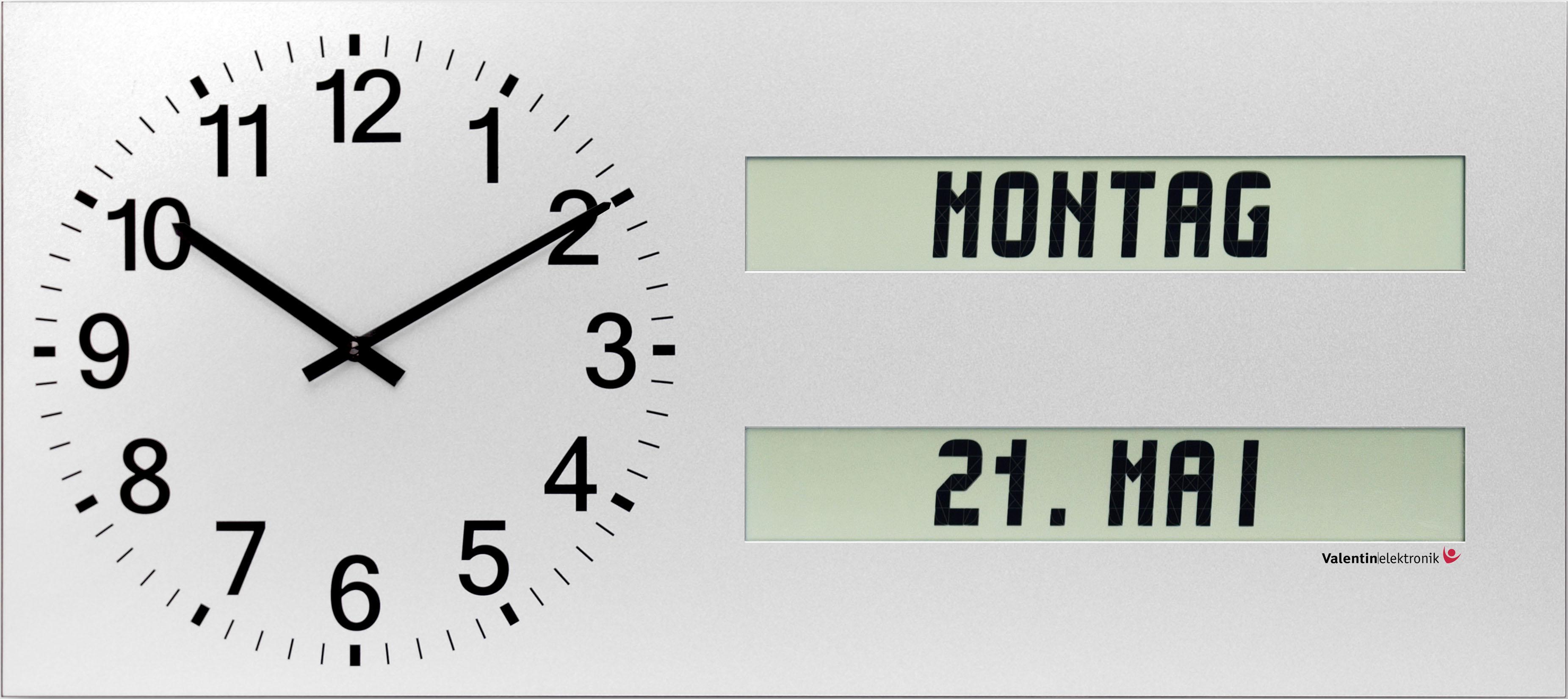 AMC 40 Q2 Große Wanduhr mit ausgeschriebenem Wochentag