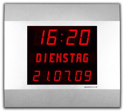 LW-57-38-WD: Wireless LED-Clock for inside incl. DCF-77 Antenna