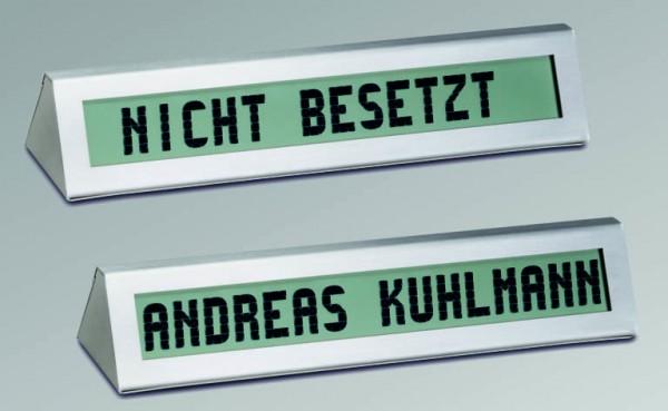 N1: elektronisches Namensschild, elektroniksches Beschriftungsschild - Tischaufsteller