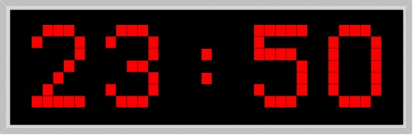 LA-210: one-sided LED outdoor clock in red