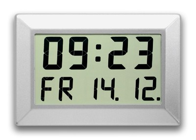 C-310-M: LCD-Wallclock for large rooms