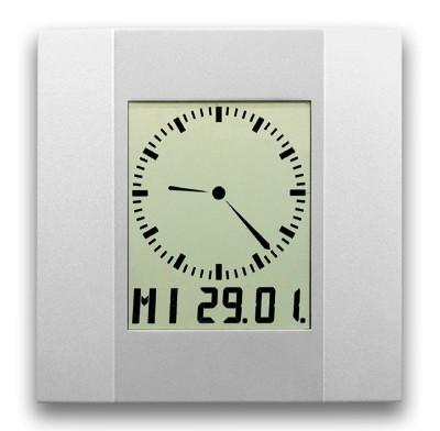 AC-200: LCD-Analog-Digitaluhr AC 200 mit auf- oder abbauendem Sekundenkranz, funkgesteuert