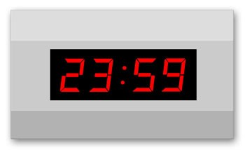 LW-57-4: Wireless LED-Wallclock with installed DCF-77-Antenna