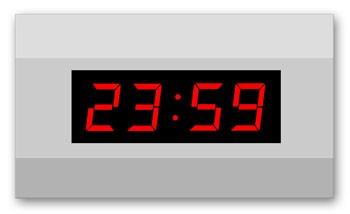LW-57-4: LED-Uhr für den Innenbereich, kabellos und funkgesteuert