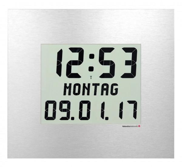 CW-210-M: LCD-Digitaluhr mit ausgeschriebenem Wochentag, kabellos und funkgesteuert